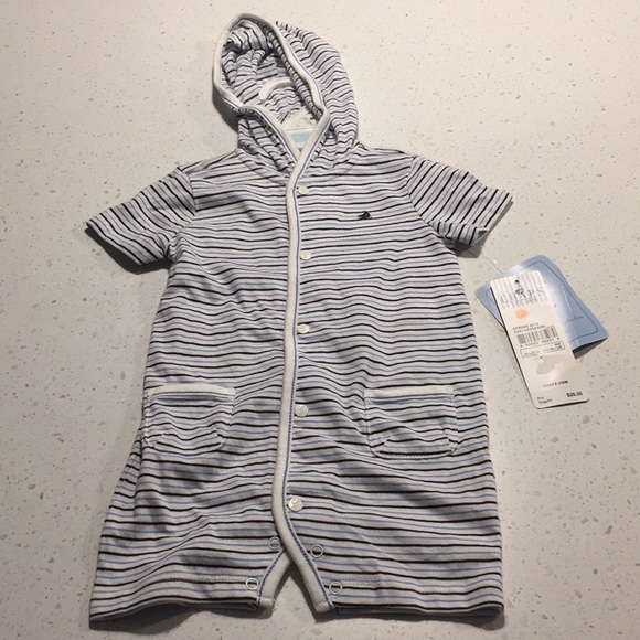 Chaps Other - Chaps newborn collection blue white romper 6m